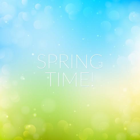 Bokeh sfondo di primavera vettore