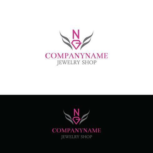 Logo del negozio di gemme vettore