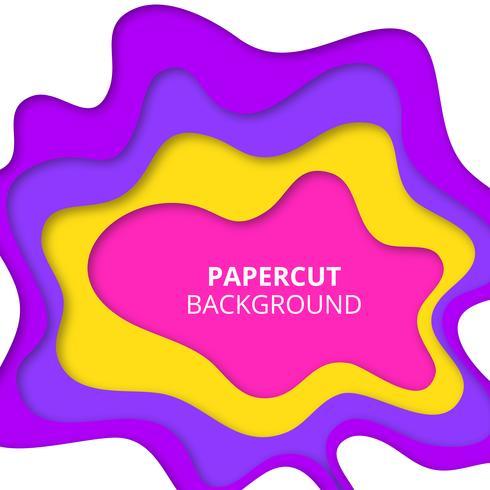 Carta colorata tagliata di sfondo vettore