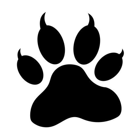 icona di stampa zampa animale vettore