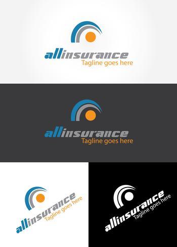 Logo design assicurativo vettore