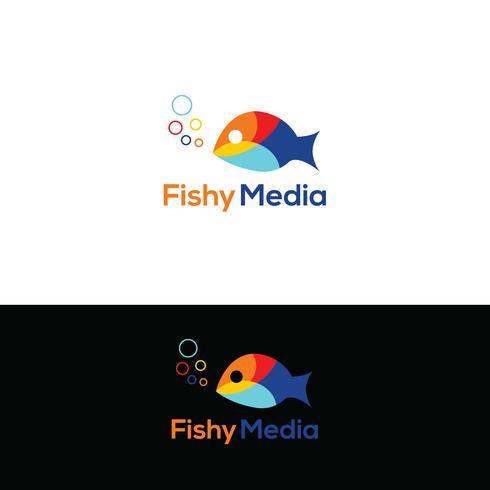 Disegno del logo del pesce vettore