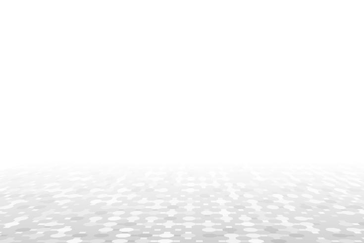 Sfondo bianco prospettiva geometrica vettore