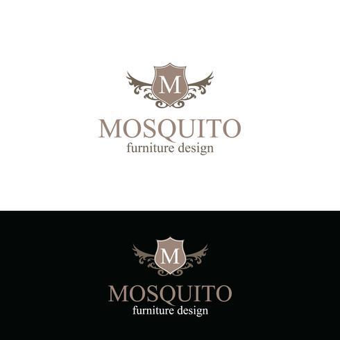 Design del logo della mobilia vettore