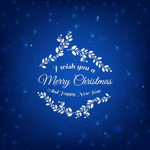 Sfondo blu di Natale vettore