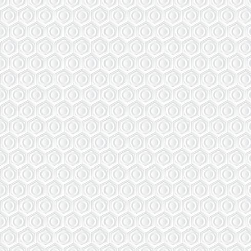 Sfondo bianco a nido d'ape. Modello di arte di carta vettore