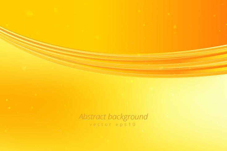 Sfondo onda gialla vettore