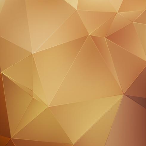 Fondo poligonale astratto oro vettore