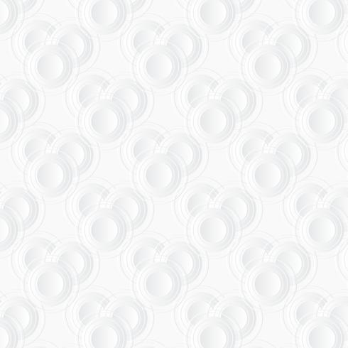 Sfondo bianco cerchio Stile di arte della carta vettore