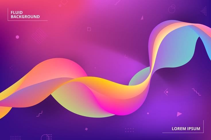 Sfondo geometrico colorato Composizione di forme fluide vettore
