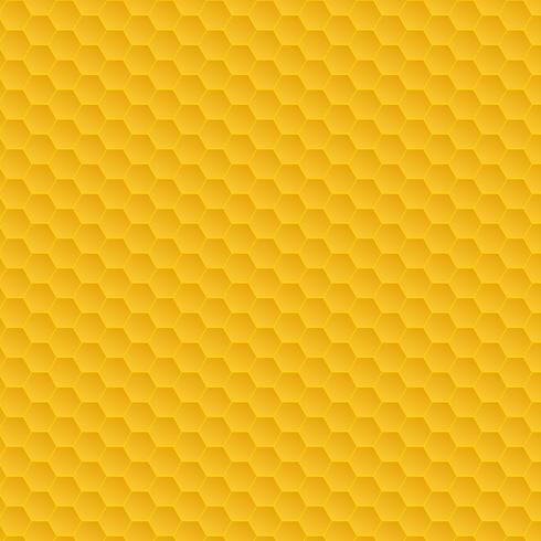 Modello a nido d'ape giallo vettore