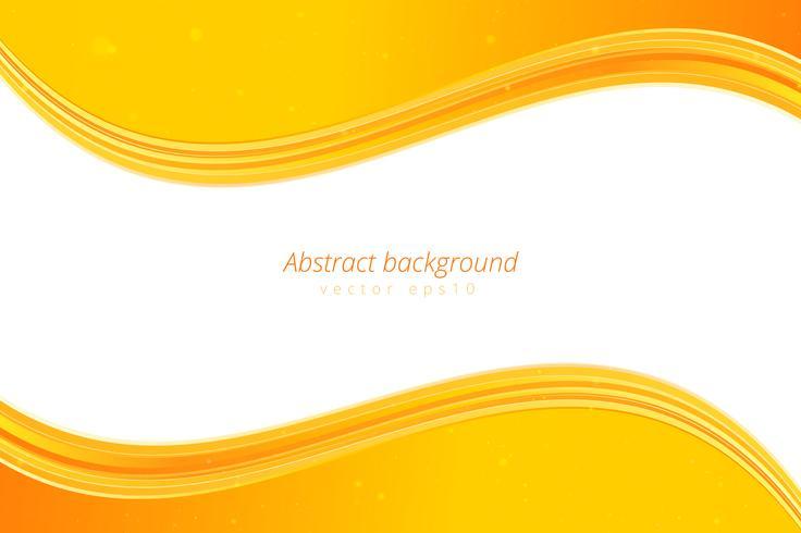 Priorità bassa gialla dell'onda con spazio bianco per testo vettore