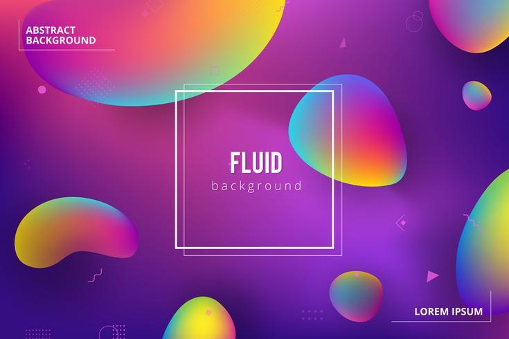 Design di sfondo a colori liquidi. Composizione di forme sfumate fluide vettore
