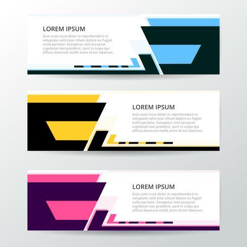 Modello di web banner design geometrico astratto di vettore. vettore