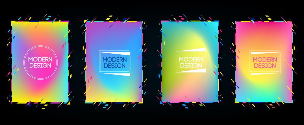 Telaio Vector per testo Grafica di arte moderna per hipsters. cornice dinamica elegante sfondo geometrico nero con oro. elemento per biglietti da visita di design, inviti, carte regalo, volantini e brochure