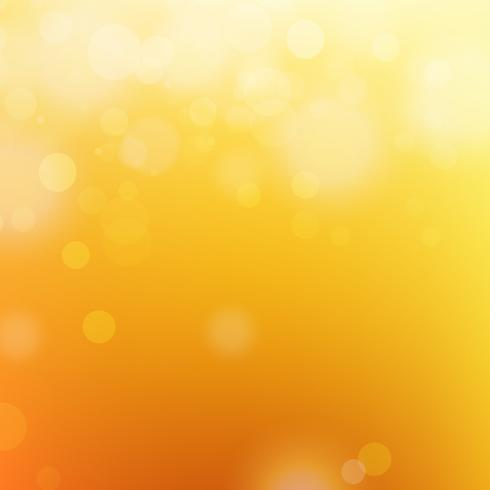 Bokeh sfondo arancione vettore