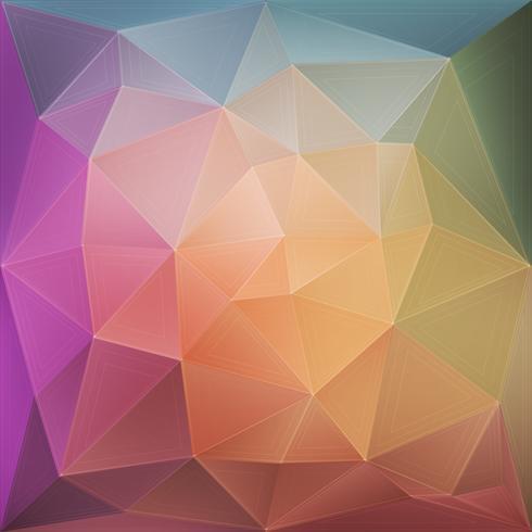Sfondo geometrico rosa e verde vettore