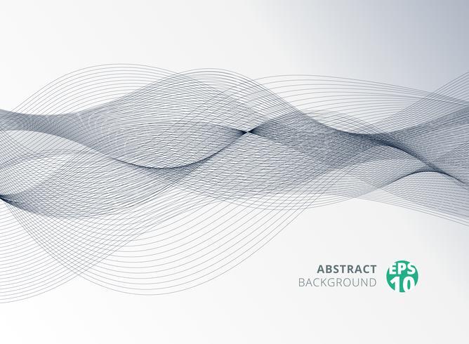 Elemento dell'onda di linea di colore grigio astratto per priorità bassa di disegno. vettore