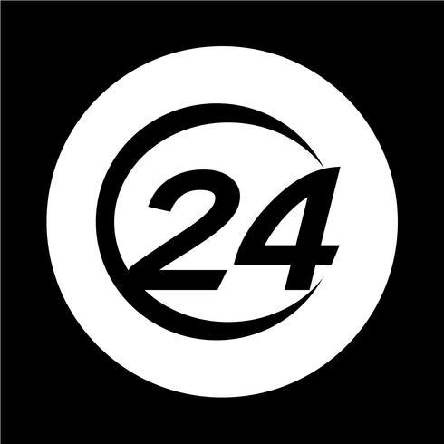 Icona di 24 ore vettore
