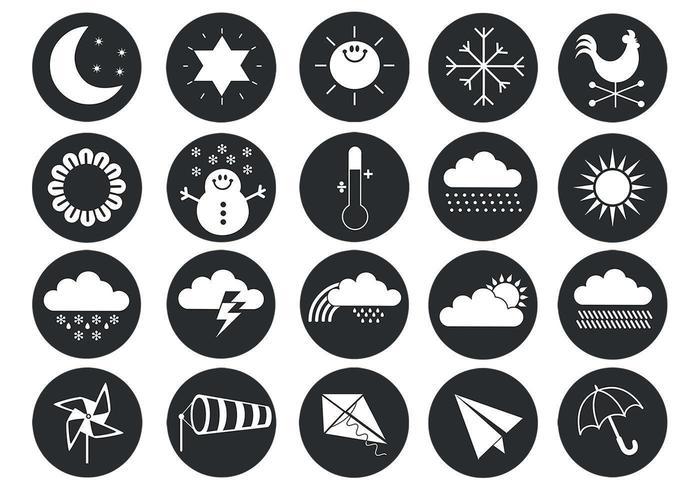 Pacchetto di simboli vettoriali meteo