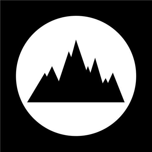 icona di montagne vettore