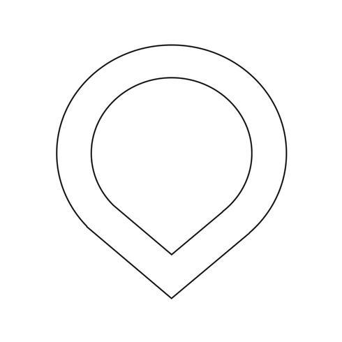 icona gps del puntatore della mappa vettore