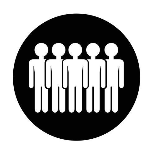 Segno dell'icona di persone vettore
