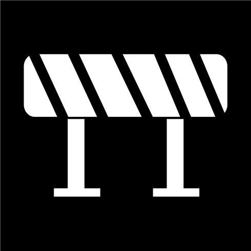 Icona barriera stradale vettore