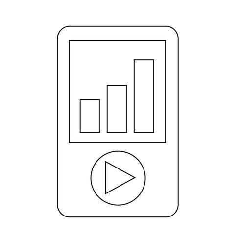 icona di riproduzione multimediale vettore