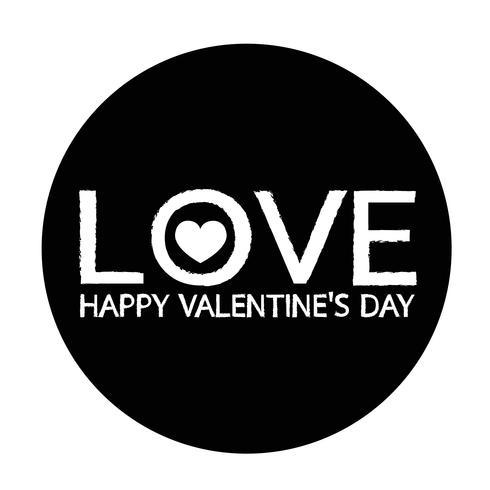 Icona della carta di San Valentino vettore