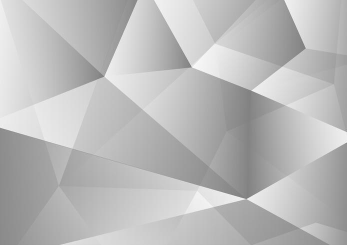 Tecnologia astratta del fondo del poligono di colore bianco e grigio moderna, illustrazione di vettore