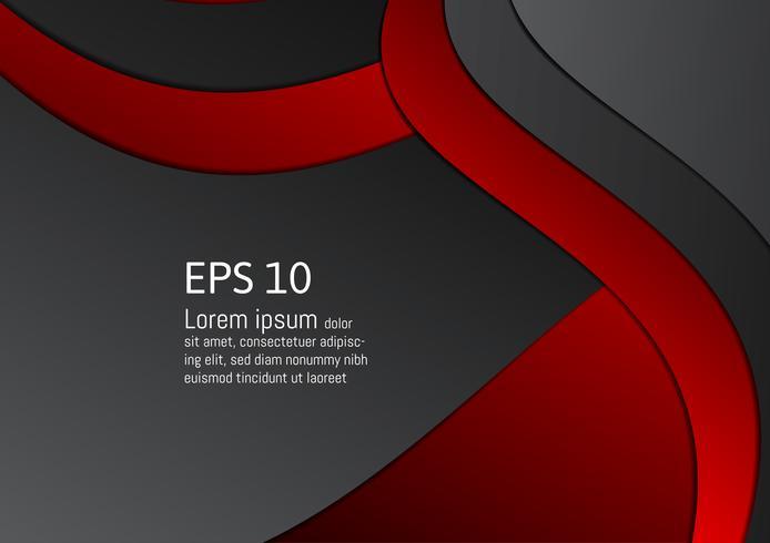 Priorità bassa geometrica rossa e nera astratta con lo spazio della copia, illustrazione di vettore