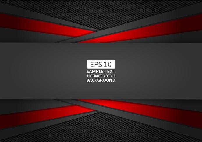Progettazione moderna del fondo astratto geometrico rosso e nero, illustrazione di vettore