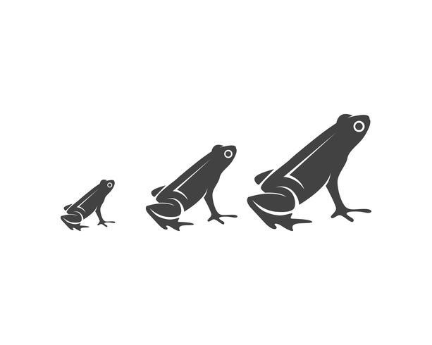 logo e modello di simboli di rana verde vettore