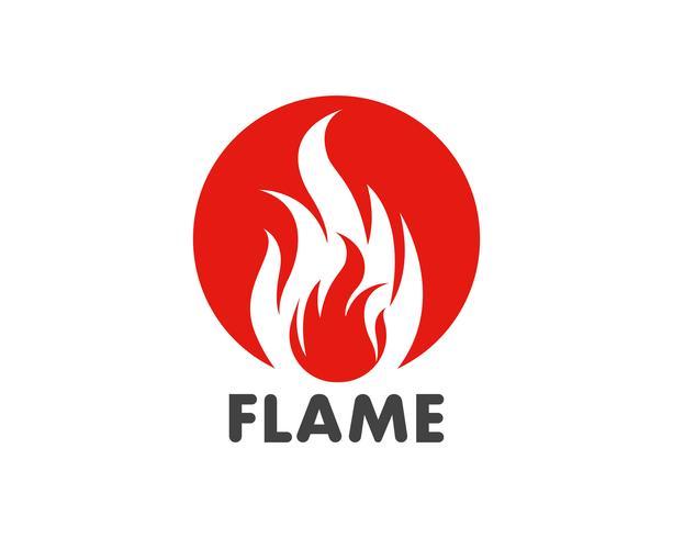 Fiamma di fuoco Logo Template vector icon Concetto di logo di petrolio, gas ed energia