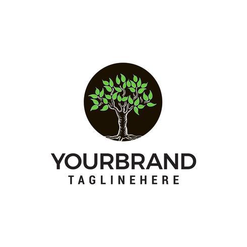 vettore del modello di concetto di progettazione di logo dell'albero