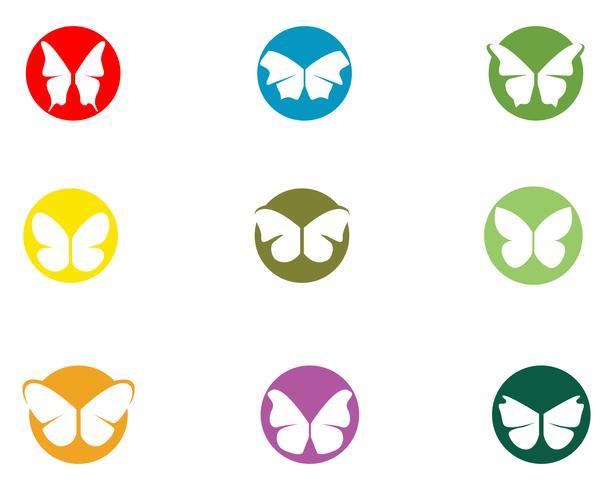 Farfalla concettuale semplice, icona colorata. Logo. Illustrazione vettoriale