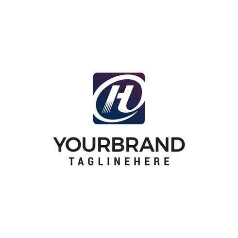 lettera H moderno logo design concetto modello vettoriale