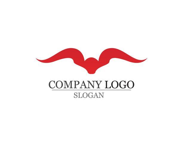 Icone del modello di logo e simboli del corno di toro app vettore