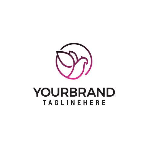 colomba Elegante logo design concetto modello vettoriale