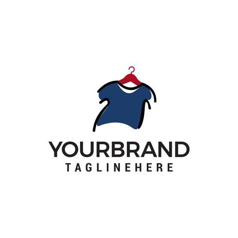 vettore del modello di concetto di progettazione di logo dei vestiti