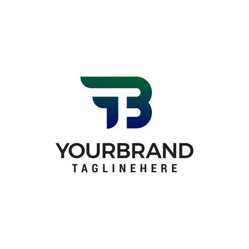 lettera fb astratto logo design concetto modello vettoriale