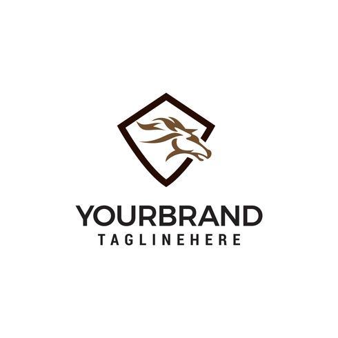 vettore del modello di concetto di progettazione logo astratto di testa di cavallo