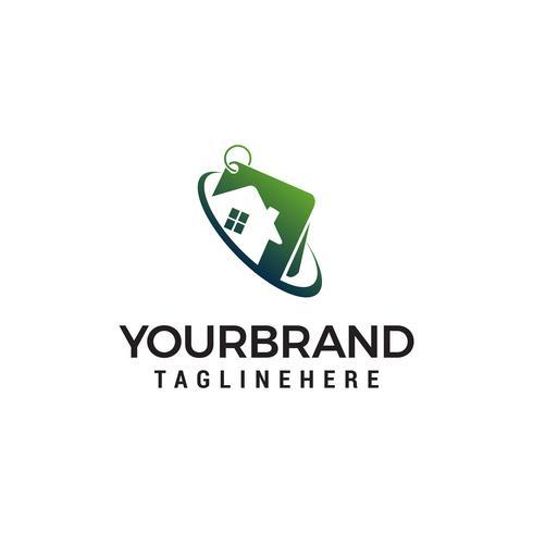 vettore del modello di concetto di progettazione di logo di casa di proprietà
