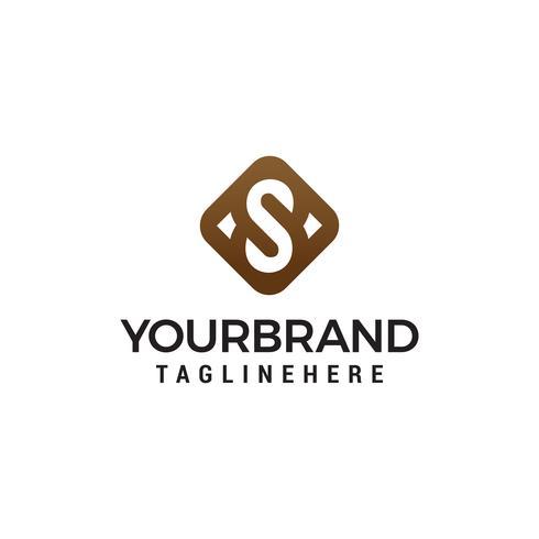 lusso iniziale lettera S Symbol Logo Template vettore