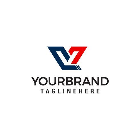 vettore del modello di progetto di progettazione di logo della lettera V capitale