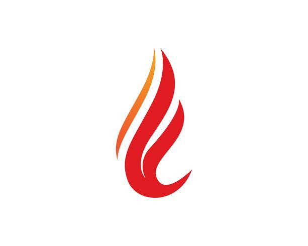 Modello di logo di fiamma fiamma natura e simboli icone vettore