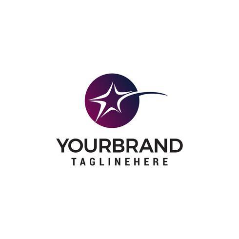 stella veloce cerchio logo design concetto modello vettoriale