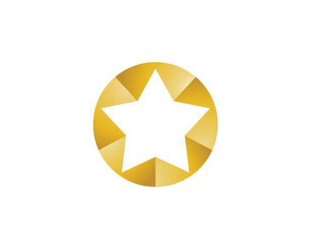 Progettazione dell'illustrazione dell'icona di vettore del modello di logo della stella