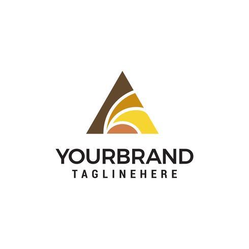 vettore del modello di concetto di progettazione del logo del triangolo